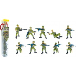 TUBO COMMANDO OPERATION JUNGLE - 10 FIGURINES