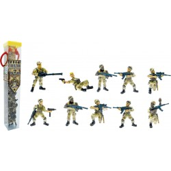TUBO COMMANDO OPERATION DESERT - 10 FIGURINES
