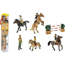 TUBO EQUITATION  (10 FIGURINES)