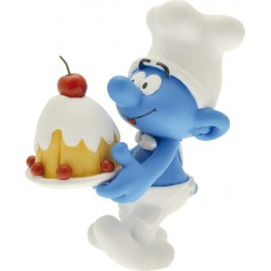 FIGURINE DE COLLECTION LE SCHTROUMPF PATISSIER