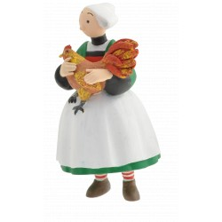 FIGURINE BECASSINE ET LE COQ