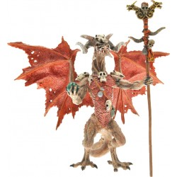 FIGURINE LE DRAGON SORCIER ROUGE