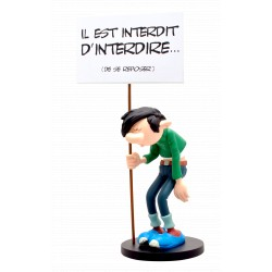 FIGURINE DE COLLECTION GASTON PANCARTE : IL EST INTERDIT D'INTERDIRE