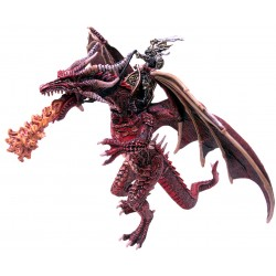 FIGURINE LE GRAND DRAGON VOLANT ET SON CAVALIER
