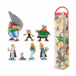TUBO ASTERIX - LE VILLAGE GAULOIS - 7 FIGURINES