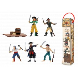 TUBO PIRATES - 6 FIGURINES