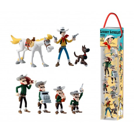 TUBO LUCKY LUKE - 7 FIGURINES