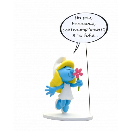 FIGURINE COLLECTION BULLES : LA SCHTROUMPFETTE