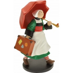 FIGURINE DE COLLECTION BECASSINE ET SON PARAPLUIE