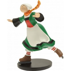 FIGURINE DE COLLECTION BECASSINE PATINEUSE