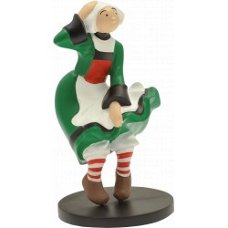 FIGURINE DE COLLECTION BECASSINE ROBE AU VENT