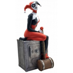 TIRELIRE DE COLLECTION HARLEY QUINN SUR UN COFFRE-FORT